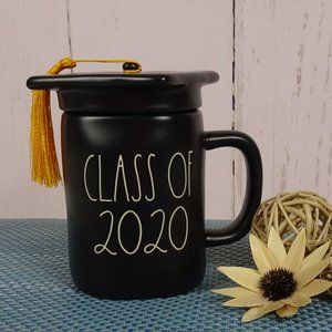 Rae Dunn Class of 2020 Black Mug With Lid Graduate